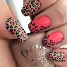 Leopard Nail Designs, Nail Art Designs 2016, Leopard Nail Art, Leopard Print Nails, Leopard Prints, Leopard Spots, Pretty Nail Art, Fabulous Nails, Nail Tutorials