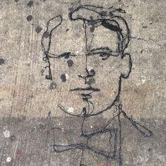 #paulrichard on #LowerEastSide pavement #streetart #pavementart @paulrichardnyc