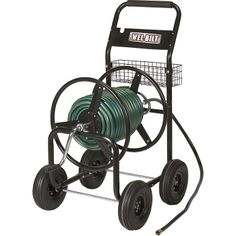 Keeps hoses from being a tangled mess - Ironton Hose Reel Cart — Holds 300ft. x 5/8in