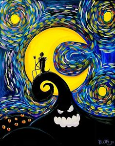 Scary, Starry Night, Painting, Starry, Artwork