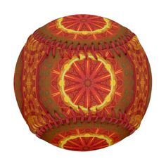 Red and gold kaleidoscope pattern.