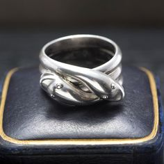 Victorian Silver Entwined Snakes Ring, c. 1860, $1000.