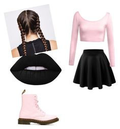 """""""Untitled #73"""" by caballerobianca123 on Polyvore featuring Dr. Martens, LE3NO and Lime Crime"""