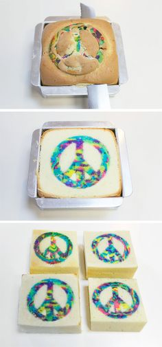 DIY Peace Cake. You could use other cookie cutter shapes for this too!