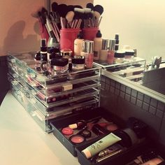 Organizing makeup/ I agree it wouldn't take me as long if I had all this!