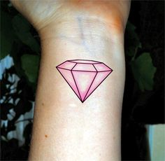 Bachelorette tattoo pink diamond tattoo by SharonHArtDesigns