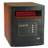 EdenPure infrared heater for providing radiant heat in poorly insulated rooms.