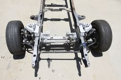 The Crown Vic assembly is easily adapted to the 1967 Ford F-100 and is an affordable alternative for those on a budget. Check out how we got our cop suspension!