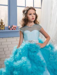 Custom made 100% gaun bunga gadis untuk pernikahan komuni pertama gaun untuk  anak perempuan anak-anak gaun malam gaun prom 2017 6ee1a538ac1b