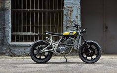 The latest build by Lab Motorcycle  on stage at Lisboa Art & Moto 2014   Built by Pedro Bachalau. Photos by  Nuno Capelo - Portu...