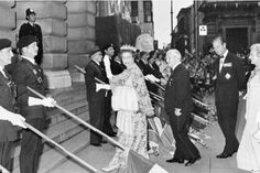 The Queen waves to the crowds in the Old Market Square during her Silver Jubilee visit in 1977