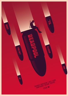 #Deadpool #Fan #Art. (Deadpool Movie Poster) By: Rick Jr. ÅWESOMENESS!!!™ ÅÅÅ+
