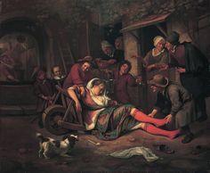 Jan Steen Wine is a Mocker 1663-1664
