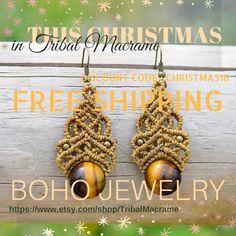 FREE SHIPPING in boho jewelry this christmas, a lot of discounts and sales. Envíos gratis en bisutería boho estas navidades. Muchos descuentos, ofertas y rebajas. https://www.etsy.com/es/shop/TribalMacrame https://www.facebook.com/tribalmacrame/