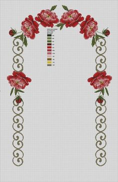 This Pin was discovered by Nur Cross Stitch Borders, Cross Stitch Flowers, Cross Stitch Patterns, Crochet Patterns, Bobble Stitch, Hand Embroidery Stitches, Prayer Rug, Bargello, Handicraft