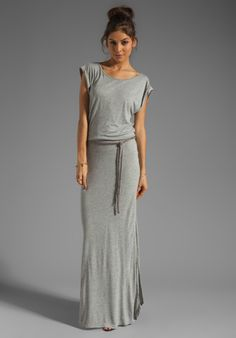 PJK PATTERSON J. KINCAID Fabre Maxi Dress in Heather Grey - PJK Patterson J. Kincaid