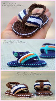 33 Ideas crochet baby sandals free pattern flip flops yarns for 2019 Booties Crochet, Crochet Baby Sandals, Crochet Slippers, Baby Booties, Diy Crochet Shoes, Crochet Ideas, Crochet Baby Clothes Boy, Kids Slippers, Baby Shoes Pattern