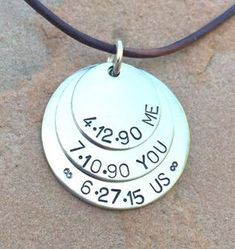 Men& Necklace, Boyfriend Necklace, Husband Necklace, Gifts For Him, father … Bf Gifts, Couple Gifts, Boyfriend Gifts, Craft Gifts, Boyfriend Stuff, Boyfriend Ideas, Noel Gifts, Ladies Gifts, Boyfriend Names