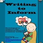 This Writing to Inform (All About Books) is a unit of study written by Trina Dralus is complete with activities for each phase of writing. There ar...