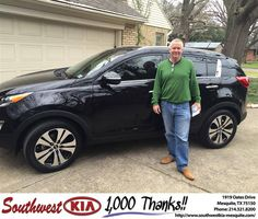 https://flic.kr/p/F8w5eZ | Happy Anniversary to Robert on your #Kia #Sportage from Clinton Miller at Southwest Kia Mesquite! | deliverymaxx.com/DealerReviews.aspx?DealerCode=VNDX
