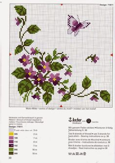 Thrilling Designing Your Own Cross Stitch Embroidery Patterns Ideas. Exhilarating Designing Your Own Cross Stitch Embroidery Patterns Ideas. Ribbon Embroidery, Cross Stitch Embroidery, Embroidery Patterns, Butterfly Cross Stitch, Cross Stitch Flowers, Cross Stitch Designs, Cross Stitch Patterns, Bordado Tipo Chicken Scratch, Cross Stitch Boards