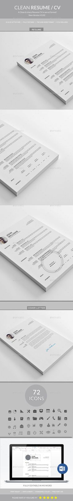 Experience - CV\/Resume PSD Template Psd templates - resume form download