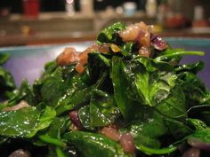 Wilted Spinach Salad w/ Balsamic Caramelized Red Onions (via Food52) - Also great with chicken and/or quinoa