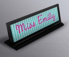 Name Plate nameplate teacher gifts  Classroom by thecraftgiraffe