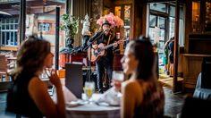 Live music at Fairmont's famous marTEAni Party - all part of Cornucopia Food + Drink Festival.  Visit Fairmont Chateau Whistler website for Cornucopia and other special events!   http://www.fairmont.com/whistler/special-offers/holiday-offers/whistler-cornucopia-events/ Photo By Sean St. Denis