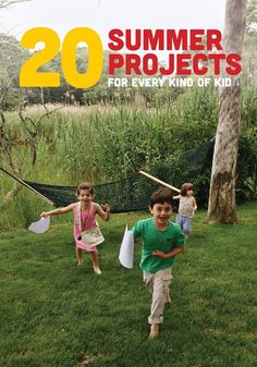 20 Summer Projects, Crafts and Activities for Kids from painting a birdhouse to making butterfly wings to organizing a treasure hunt around the yard