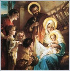 Nativity of Jesus Christ - Old pictures with depictions of Virgin Mary and Nativity of Child Jesus. Merry Christmas, Christmas Nativity Scene, Vintage Christmas Cards, Nativity Scenes, Praying The Rosary, Holy Rosary, Decades Of The Rosary, Birth Of Jesus Christ, Baby Jesus