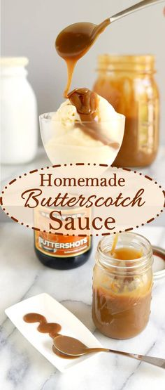 Luscious and buttery homemade butterscotch sauce has a very special flavor that is different than caramel....and it's easier to make than caramel too!