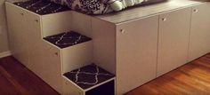 Ikea-Hack: Papa baut aus 7 Küchenschränken ein Traumbett für seine Tochter   BRIGITTE.de