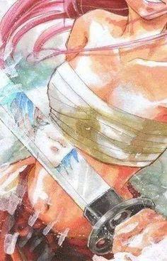 Erza Scarlet, jellal reflection.. I don't ship it. Ezra belongs with gray. But I love the srtwork