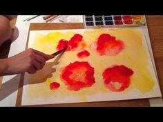 How to paint flowers lessons