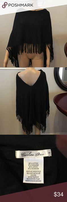 Caroline Grace Shawl Black one size fits most shawl. Great condition Caroline Grace Accessories