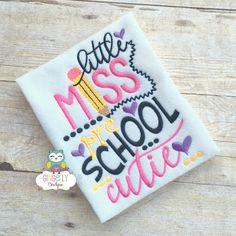Little Miss Preschool Cutie Shirt,  Girl Back to School Shirt, First Day of School Shirt, Preschool Shirt, Little Miss School Shirt by GingerLyBoutique on Etsy