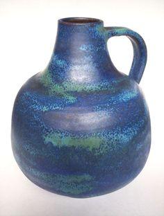Keramik Vase Anton Lang Oberammergau West-Germany Art Pottery WGP vintage 21cm Anton, Keramik Vase, Vintage Vases, Pottery Art, Germany, Mid Century, Lava, Ebay, Deutsch