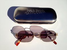 1829b9697e Reserved for jewelryondeck s vintage authentic Jean Paul Gauthier sunglasses  with case made in Japan