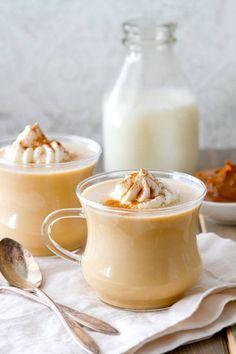 Lait chaud à la confiture de lait