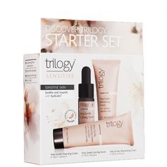 Opening Special $27.9 > $19.53 Trilogy Sensitive Starter Set - Sensitive Skin Looking for gift ideas or an easy way to trial a new natural skincare regime? These carefully selected sets of our most popular products are perfect as skincare gifts, corporate gifts, travel kits or skincare starter sets.  Very Gentle Cleansing Cream 30mL Very Gentle Calming Serum 10mL Very Gentle Moisturising Cream 20mL Travel Kits, Corporate Gifts, All Brands, Calming, Natural Skin Care, Sensitive Skin, Serum, Skincare, Gift Ideas