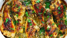 Buttermilk Roasted Chicken with Garlic - Recipes - Buttermilk Chicken, Buttermilk Recipes, Chicken Drumstick Recipes, Best Chicken Recipes, Turkey Recipes, Marinated Chicken, Roasted Chicken, Roast Chicken Drumsticks, Plate