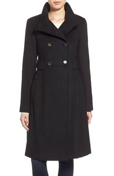Free shipping and returns on Eliza J Wool Blend Long Military Coat (Regular & Petite) at Nordstrom.com. A coat with classic military polish is tailored from a wool blend in a fitted silhouette enhanced with button tabsat the sides and a skirted back. Gleaming goldtonebuttons mark the high-set, double-breastedstyling.