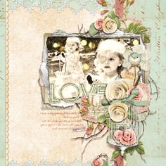 Digital scrapbook layout by Brandy Murry