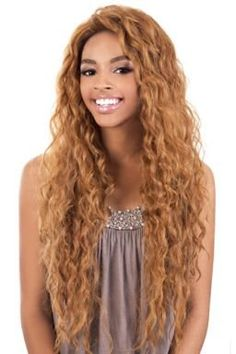 "BeShe 2"" Deep Lace Front Wig - LACE-304 (SUPER LOOSE CURL 29"") (1 - Jet Blk)"