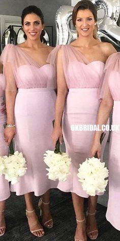 Pink Mermaid One Shoulder Sweetheart Tulle Bridesmaid Dress, FC3895 #bridesmaiddresses #bridesmaiddress #bridesmaids #dressesformaidofhonor #weddingparty #2021bridesmaiddresses #2021wedding Summer Bridesmaid Dresses, Beautiful Bridesmaid Dresses, Wedding Dress Chiffon, Wedding Bridesmaid Dresses, Prom Dresses, Bridesmaids, Off Shoulder Bridesmaid Dress, Evening Dresses, Formal Dresses