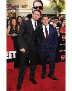 Channing Tatum and Jonah Hill.  Two bros in the midst of a bromance for the ages. Two different body types, perfectly fitted.
