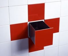 build in storage for shower. I like this alot. keep stuff out of sight that you dont necessarily use all the time.