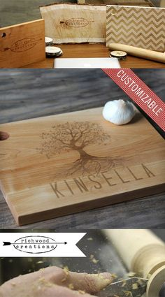 Custom Tree Design Cutting Board - 16'' X 11''