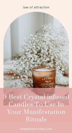 Discover a powerful manifestation method that combines the law of attraction, healing crystals and candles. With these crystal candles, you will be able to manifest money, manifest love or anything you want fast! Energy Healing Spirituality, Spiritual Growth Quotes, Crystals For Manifestation, Meditation For Beginners, Crystal Healing Stones, Guided Meditation, Crystals And Gemstones, Natural Crystals, Law Of Attraction